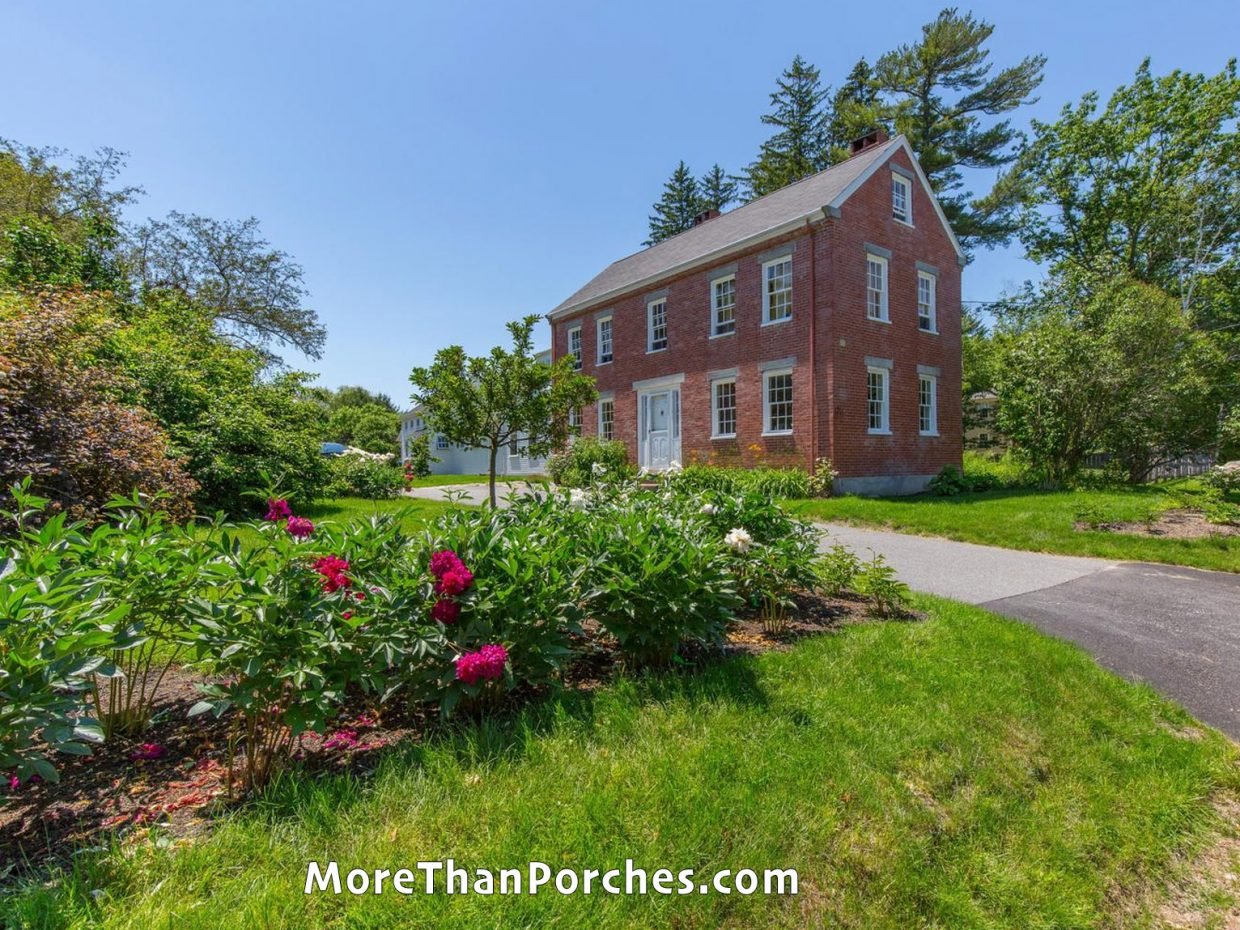 red_brick_house_flower_hedges
